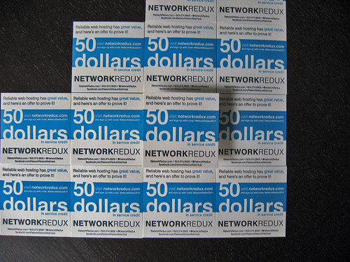 Network Redux Letterpress Cards