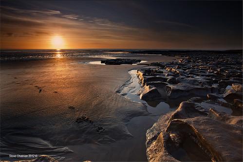 uk sunset sea beach sand rocks 2012 dunraven heritagecoast leefilters imageseen stevechatman