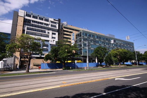 Flemington Road frontage of the former Royal Children's Hospital