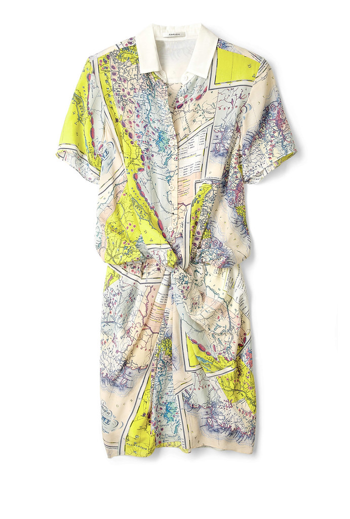 carven map dress