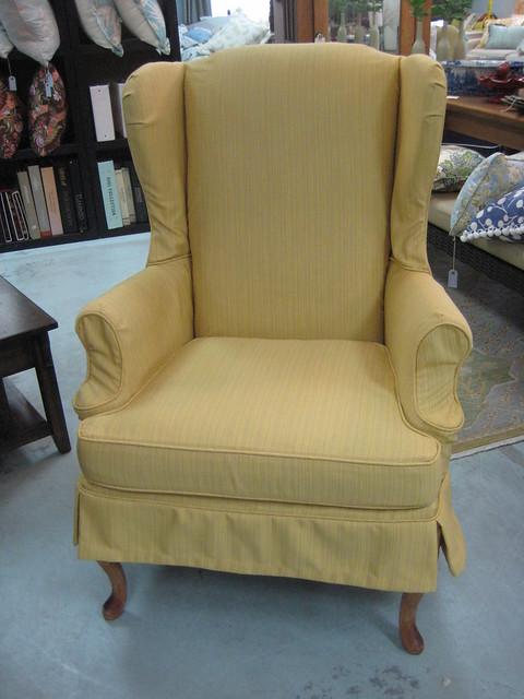 Custom Wing Chair Slipcover In Sunbrella Fabric Flickr