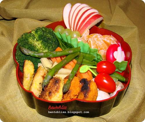 Vegetable méli-mélo bento