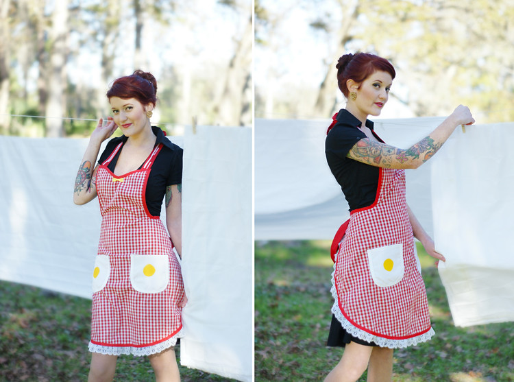 Bacon & Eggs Apron by Haute Mess  Threads