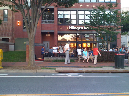Where Haagen-Dazs Used to Be, Woodmont Avenue, Bethesda
