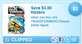 Transformers Deluxe Action Figure Coupon