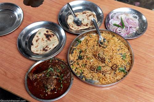 Chicken Korma, Chicken Biryani, Roti