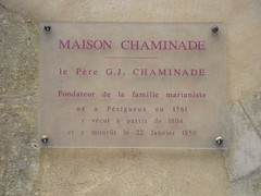 Photo of Guillaume-Joseph Chaminade plaque