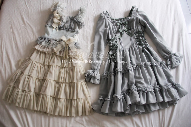 Victorian maiden lace up doll dress