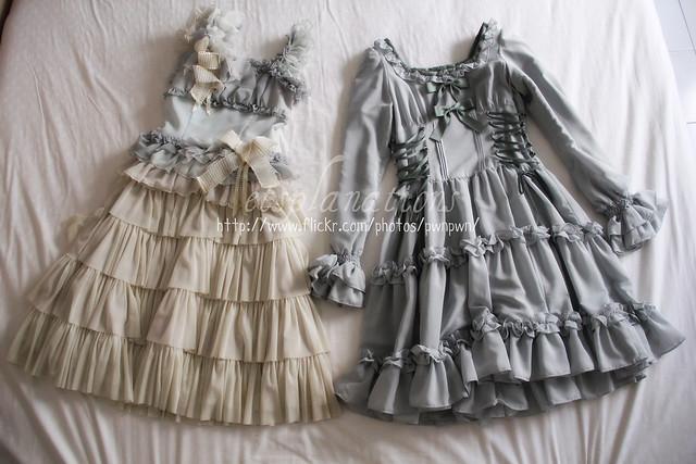 JeJ La fée d'une fleur; La plume qui secouer; VM Lace-Up Doll Dress