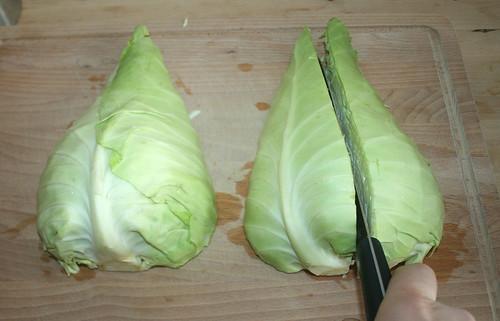 11 - Kohl vierteln / Quarter cabbage