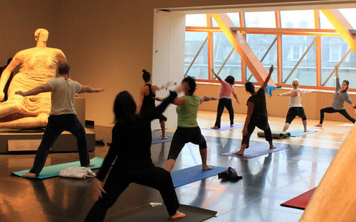 Yoga classes at the Art Gallery of Ontario