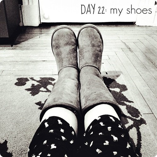 my shoes #janphotoaday (4:00 and pajama pants. welcome to Sunday)
