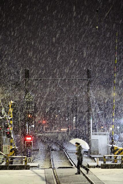線路の積雪