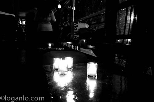 Late night in a bar in downtown NYC
