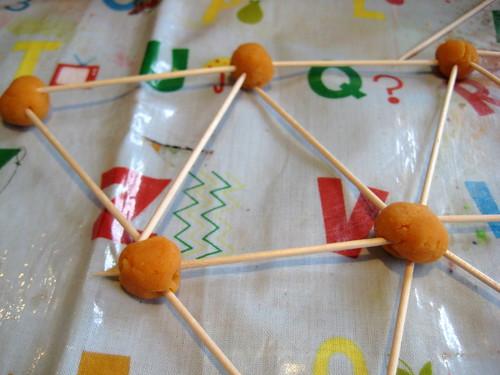 playdough cocktail sticks