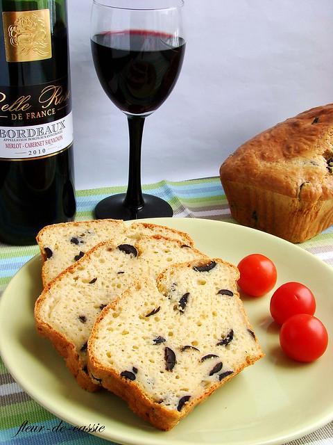 сырный кекс с маслинами 1
