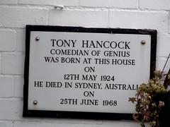 Photo of Tony Hancock white plaque