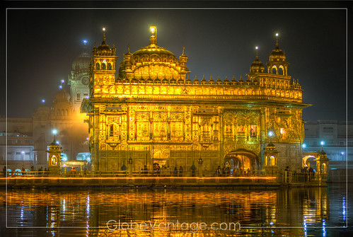 Amritsar Golden Temple night HDR 2