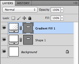7. Gradient Fill layer in the Layers palette.