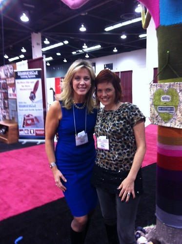 Quick chat with my friend Deborah Norville at the booth. #CHAshow