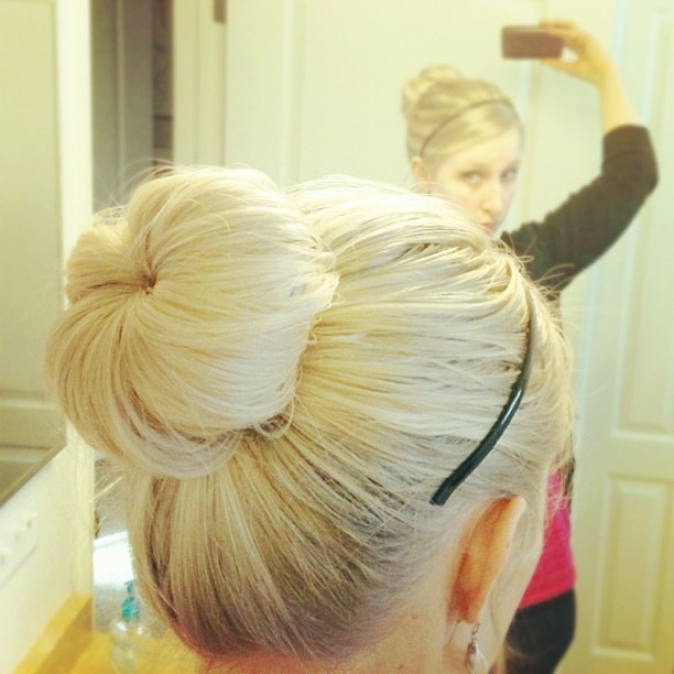 Sock bun today.