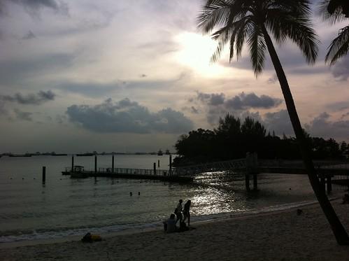 Sentosa island late afternoon