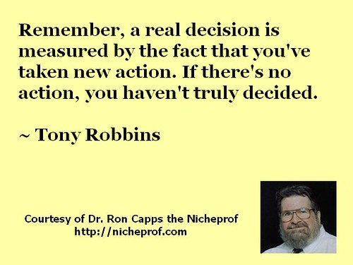 Tony Robbins on the Relationship Between Decisions and Actions
