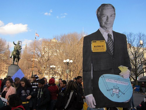 Occupy Wall Street: F1, NYC Student Walk Out, Stop School Closings, Union Square Park, Mayor Bloomberg