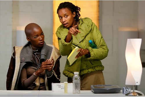 Director Wanuri Kahiu with Kudzani Moswela