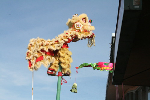 Lion Dance on Stilt