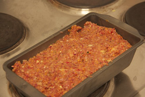 Meatloaf in the pan!