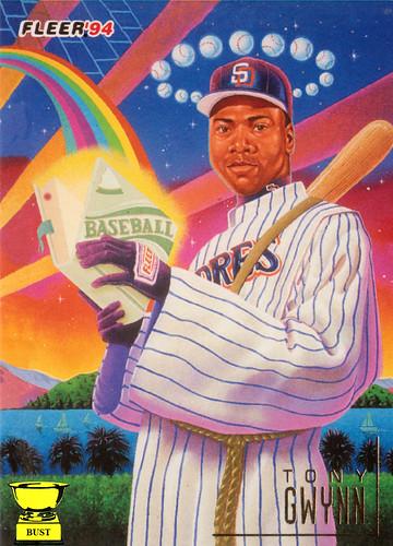 Baseball Card Bust Tony Gwynn 1994 Fleer Pro Vision