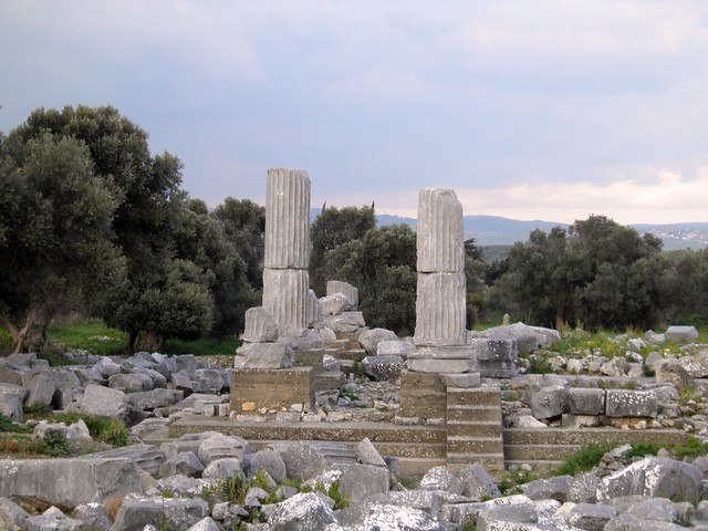 The temple of Dionysus, Teos, Turkey