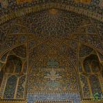 Elaborate Persian Tilework Ceiling - Imam Mosque, Esfahan