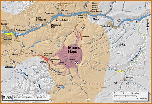 Mt Adams Washington Map.Volcano Hazard Maps Pacific Northwest Seismic Network