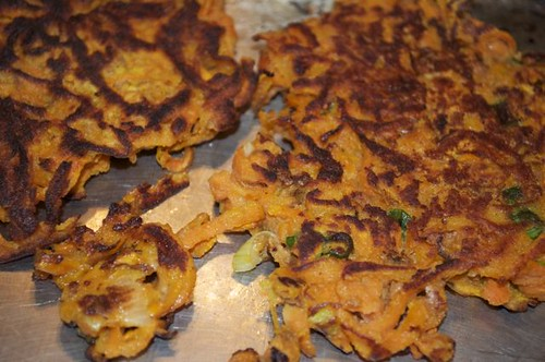 sweet potato fritters/done