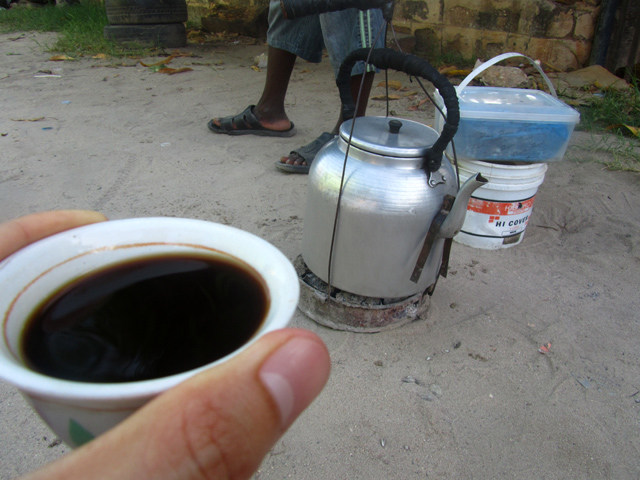 Fresh Tanzanian Street Coffee
