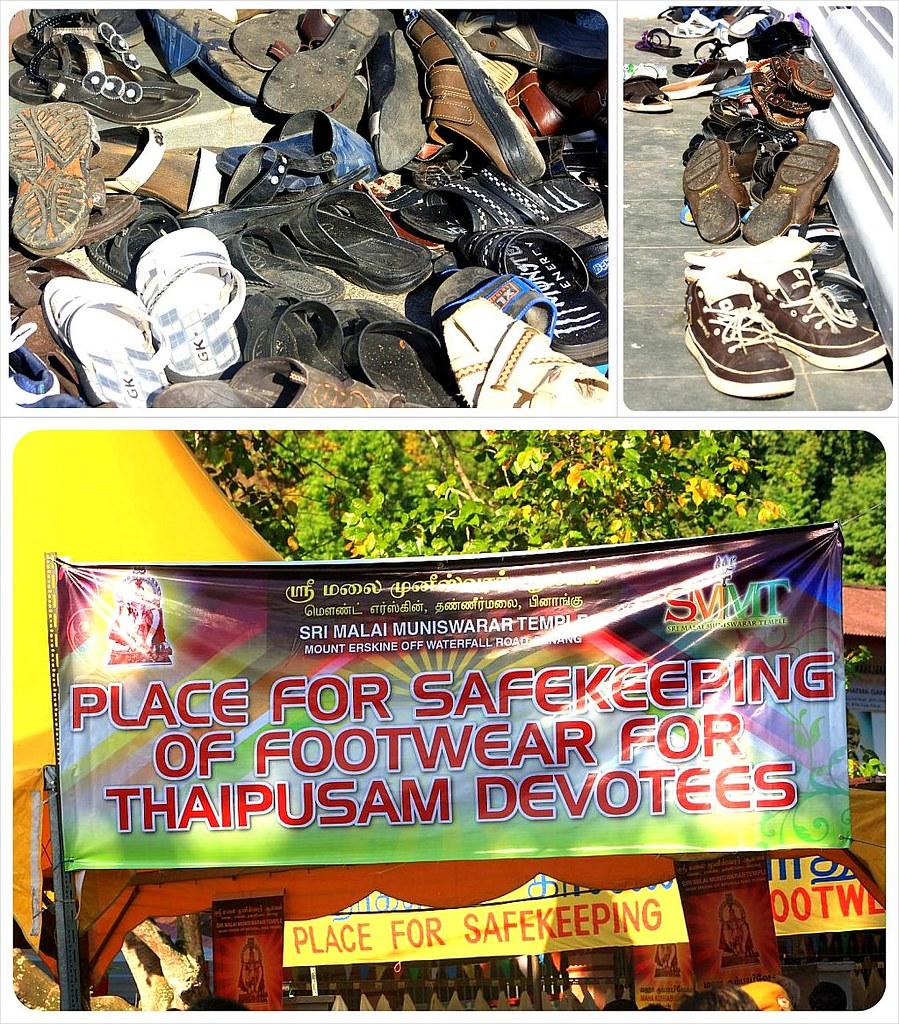 thaipusam penang shoes of devotees
