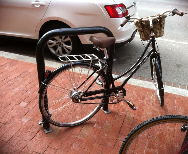 Poorly locked bike