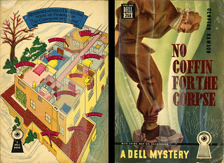 Dell Books 258 - Clayton Rawson - No Coffin for the Corpse (with mapback)