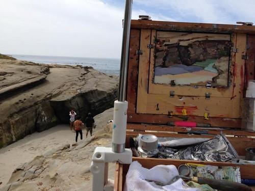 Beach painting/posing