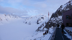 Schronisko Konkordia Hutte (2850m), przełęcz Grunhornlucke pass (3279m)