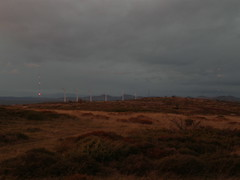 """La Mesa"" wind park at sunset"