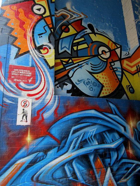 Street art, Finlay Lane, Melbourne