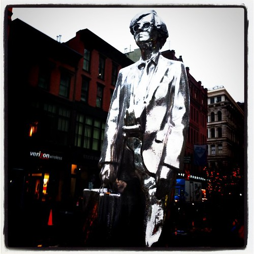 The Andy Warhol statue at Union Square