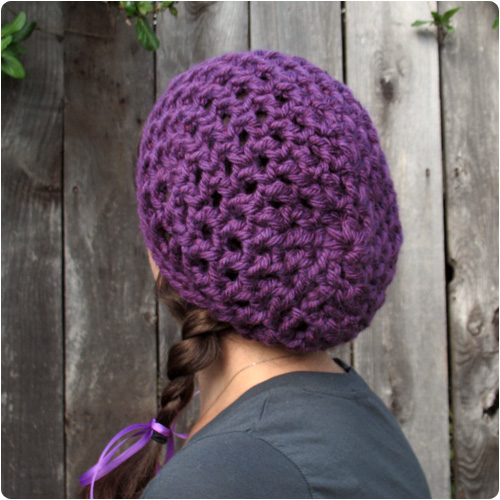 Crochet Hat Pattern Super Bulky Yarn : Free Crochet Pattern: Waffle Cone Slouchy Hat Flickr ...