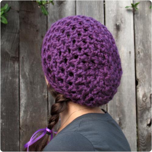 Free Crochet Pattern Chunky Slouchy Hat : Free Crochet Pattern: Waffle Cone Slouchy Hat Flickr ...