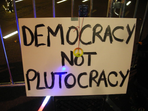 holiday liberty sign democracy not plutocracy