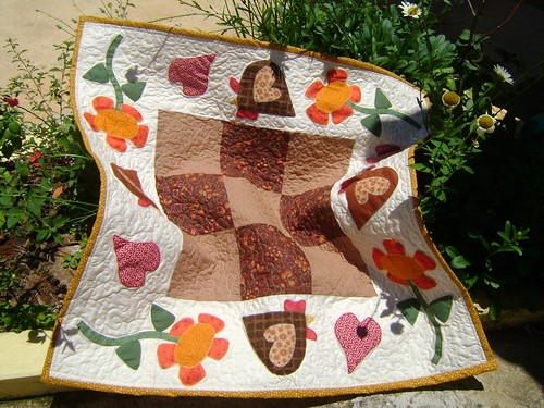 Toalha de mesa cocós, projeto Donna Borboleta