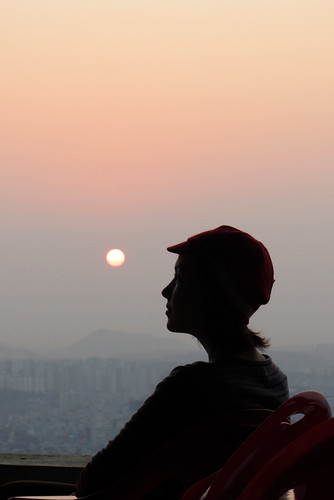 Gwangju hazy sunset
